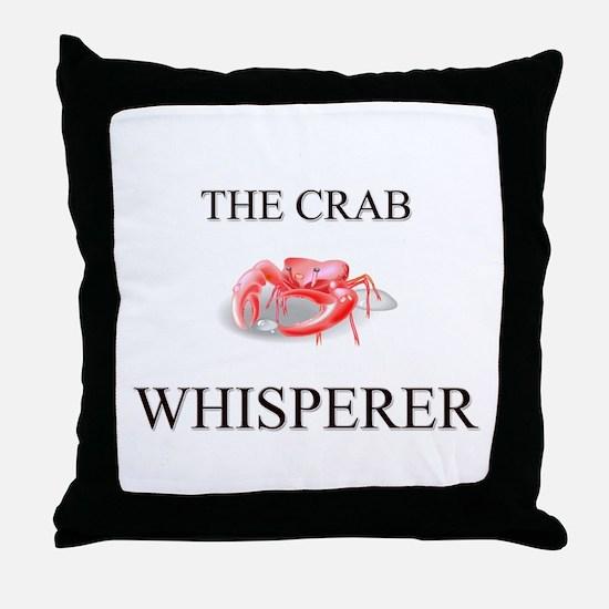 The Crab Whisperer Throw Pillow
