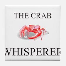 The Crab Whisperer Tile Coaster