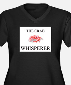 The Crab Whisperer Women's Plus Size V-Neck Dark T