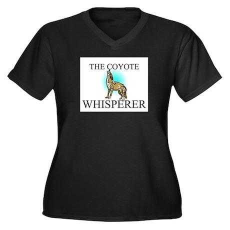 The Coyote Whisperer Women's Plus Size V-Neck Dark