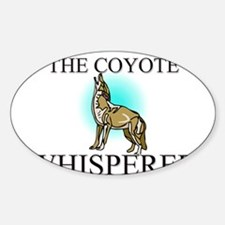 The Coyote Whisperer Oval Decal