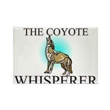 The Coyote Whisperer Rectangle Magnet