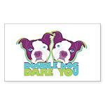 DOUBLE DOG DARE YOU Rectangle Sticker 10 pk)
