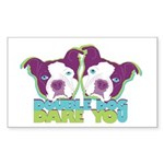 DOUBLE DOG DARE YOU Rectangle Sticker 50 pk)