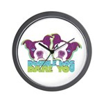 DOUBLE DOG DARE YOU Wall Clock
