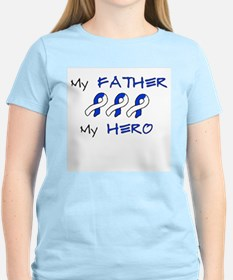 Hero Father Blue and White T-Shirt