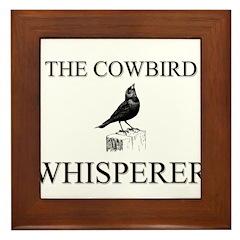 The Cowbird Whisperer Framed Tile