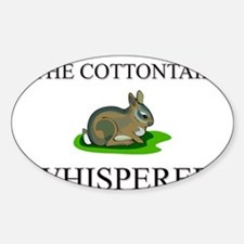 The Cottontail Whisperer Oval Decal
