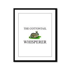 The Cottontail Whisperer Framed Panel Print