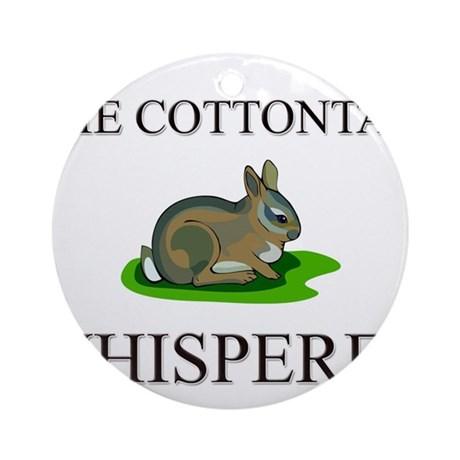 The Cottontail Whisperer Ornament (Round)