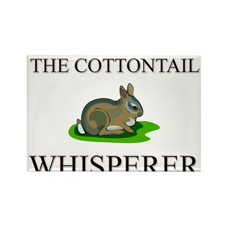 The Cottontail Whisperer Rectangle Magnet