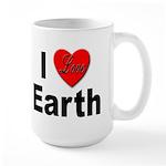 I Love Earth Large Mug