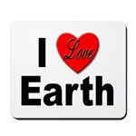 I Love Earth Mousepad