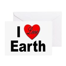 I Love Earth Greeting Cards (Pk of 10)