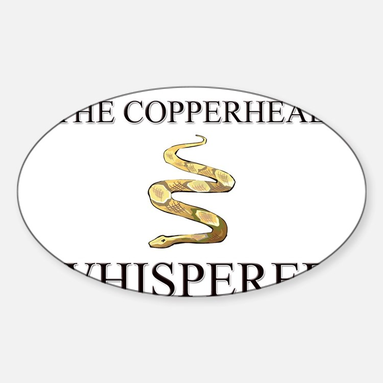 The Copperhead Whisperer Oval Decal