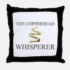 The Copperhead Whisperer Throw Pillow