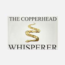 The Copperhead Whisperer Rectangle Magnet