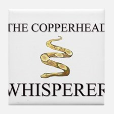 The Copperhead Whisperer Tile Coaster