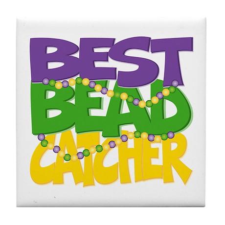 Mardi Gras Best Bead Catcher Tile Coaster