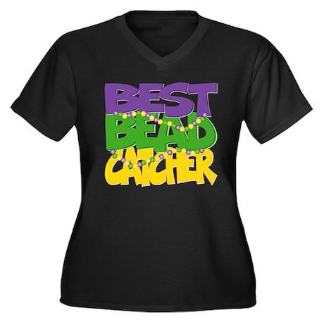 Mardi Gras Best Bead Catcher Women's Plus Size V-N