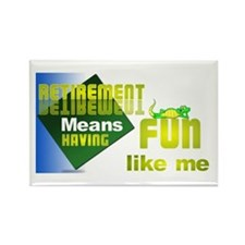 Retirement Fun.T-Shirts,caps, Rectangle Magnet (10