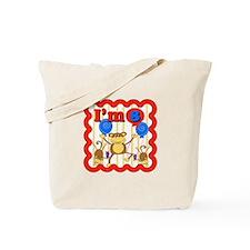8th Birthday Monkey Tote Bag