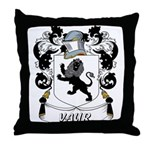 Vaur Coat of Arms Throw Pillow