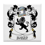 Vaur Coat of Arms Tile Coaster