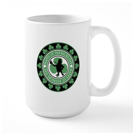 Leprechaun - St. Partrick's D Large Mug