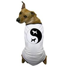 Yin Yang Border Terrier Dog T-Shirt