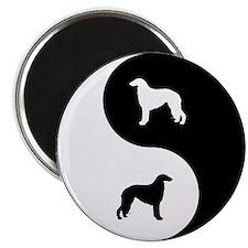 Yin Yang Borzoi Magnet