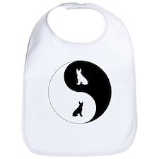 Yin Yang Boston Terrier Bib