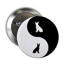 """Yin Yang Boston Terrier 2.25"""" Button"""