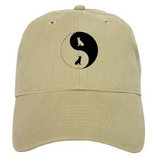 Yin Yang Boston Terrier Baseball Cap