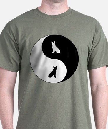 Yin Yang Boston Terrier T-Shirt