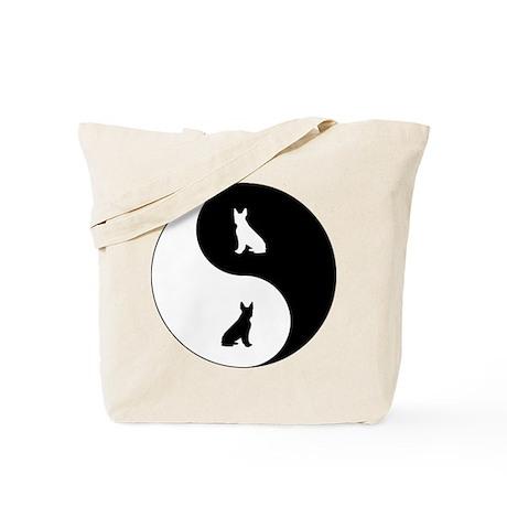 Yin Yang Boston Terrier Tote Bag