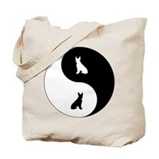 Yin Yang Boston Terrier Tote Bag