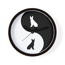 Yin Yang Boston Terrier Wall Clock
