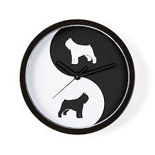 Yin Yang Bouvier Wall Clock