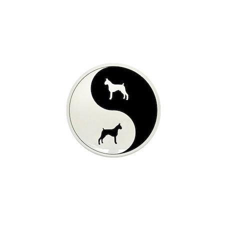 Yin Yang Boxer Mini Button (100 pack)