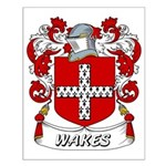 Wakes Coat of Arms Small Poster