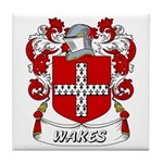 Wakes Coat of Arms Tile Coaster