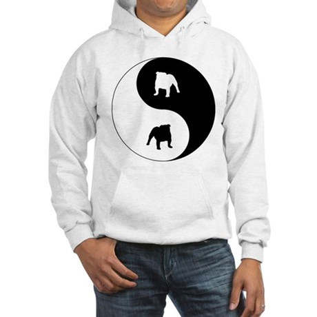 Yin Yang Bulldog Hooded Sweatshirt