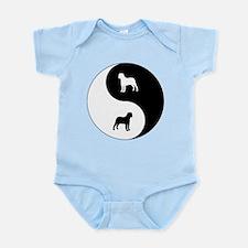 Yin Yang Bullmastiff Infant Bodysuit