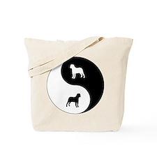 Yin Yang Bullmastiff Tote Bag