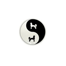 Yin Yang Chinese Crested Mini Button (10 pack)