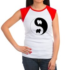 Yin Yang Chow Chow Women's Cap Sleeve T-Shirt