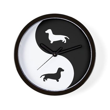Yin Yang Dachshund Wall Clock