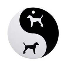 Yin Yang Foxhound Ornament (Round)