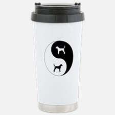 Yin Yang Foxhound Stainless Steel Travel Mug